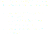 From 10 people to 10,000, No Event is to big or to small for The Beat of Time! l State of the art Computerized Light Show. l Music and Ambient Videos synced to the music. l Sound like nothing you have ever heard.